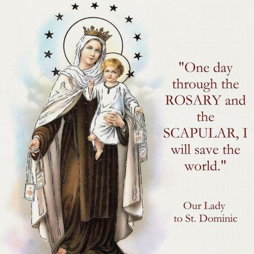 CARMEL PIC SAINTS MEME - ON THE ROSARY AND SCAPULAR BY ST. DOMINIC