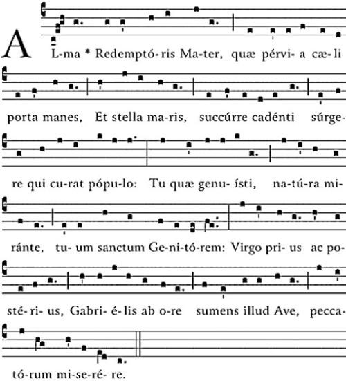 ALMA REDEMPTORIS MATER MUSIC SHEET NOTES
